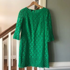 Talbots green lace dress